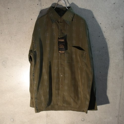 Moss Green Microfiber Design Shirt