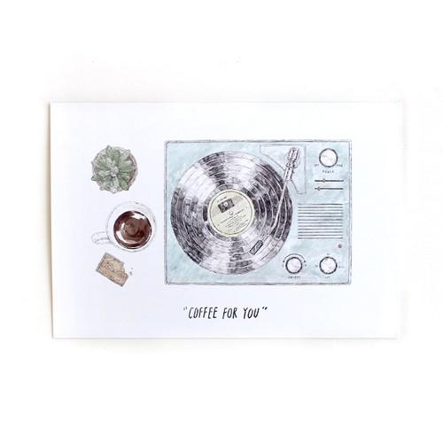 COFFEE FOR YOU  ポストカード (レコード)  (酒井マオリ)