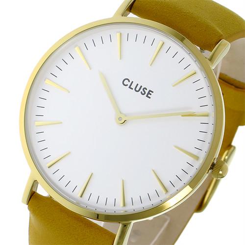 クルース CLUSE ラ・ボエーム レザーベルト 38mm クオーツ レディース 腕時計 CL18419 ホワイト ホワイト