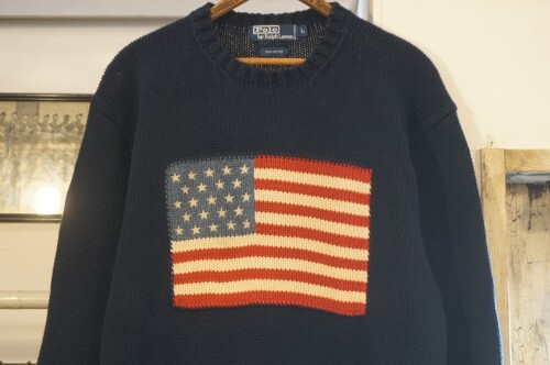 90's Ralph Lauren American flag navy cotton Sweater