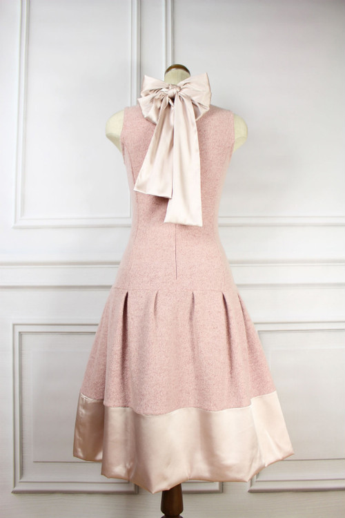 Satin Wool Pink Dress