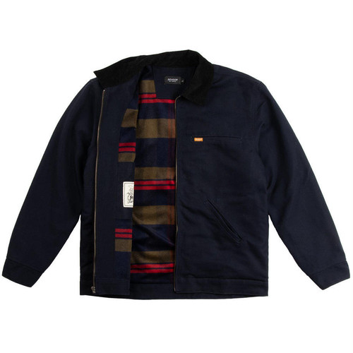 SEAGER #Ranch Jacket Navy/Flannel Lined
