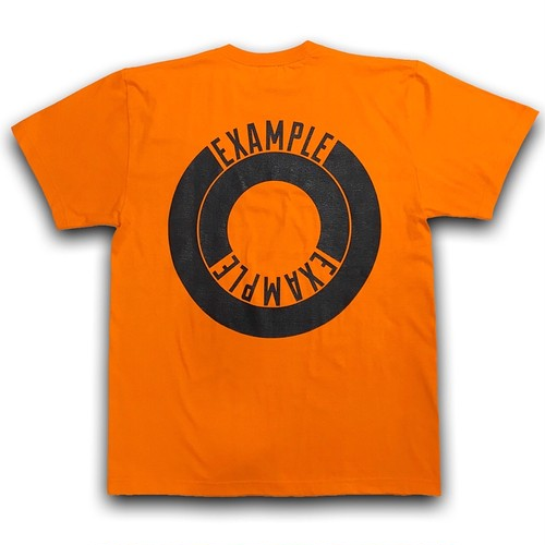 EXAMPLE ROUND LOGO TEE/ORANGE