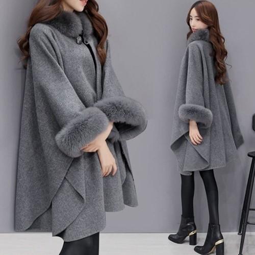 【アウター】ファッション大活躍スエードドルマンスリーブチェスターコート23689109