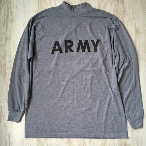 ARMY プリントロンT グレー