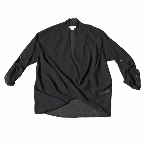 HELMUTLANG Seethrough DrapeTops