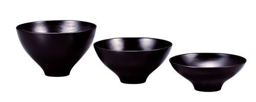 OS-022 ひふみ椀 黒摺 3ヶ組