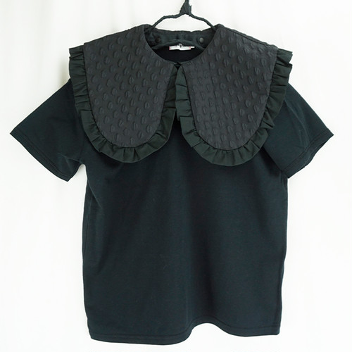 REMOVABLE BIG COLLAR TEE / LL