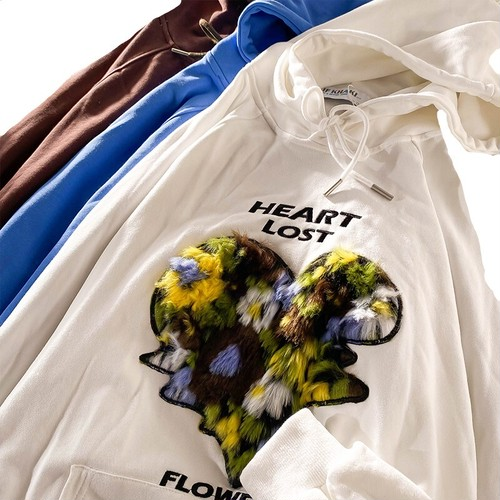 HeartFlowerLostフーディー(3col) 130