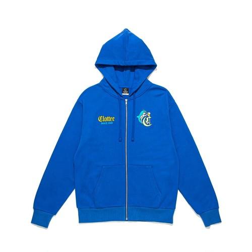 CLOTTEE DOLPHIN ZIP HOODIE / BLUE