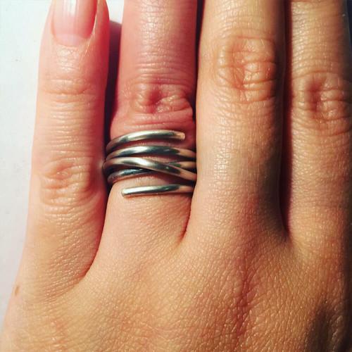 around silver ring