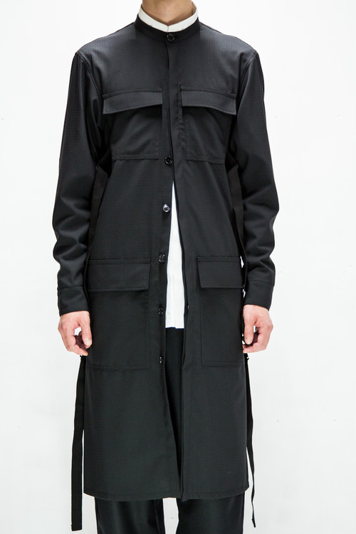 18AW 7Pocket Military Long Shirt Coat