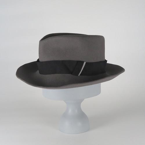 AW20-BD-1 Rabbit Felt Crinkle Hat - GRY