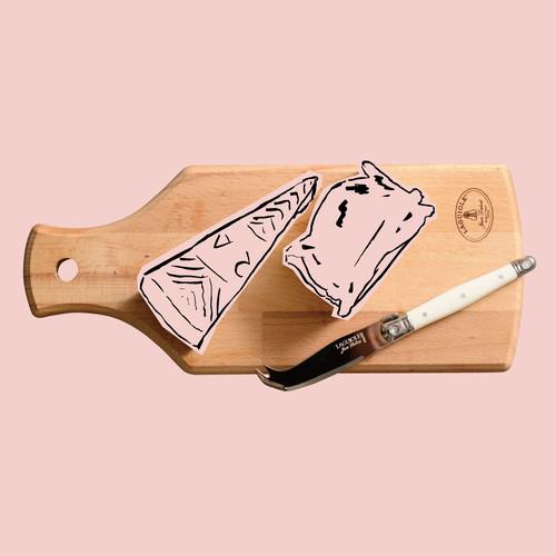 ジャンデュボ ライヨール ミニチーズナイフ&ボードセット