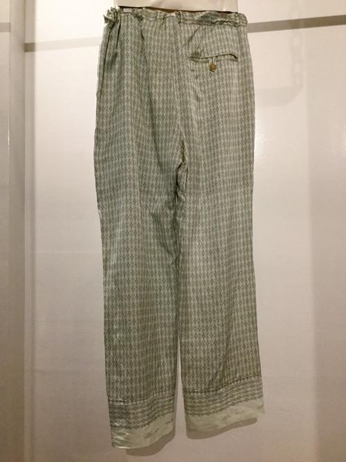 PONTI  washed  pattern inkjet pants