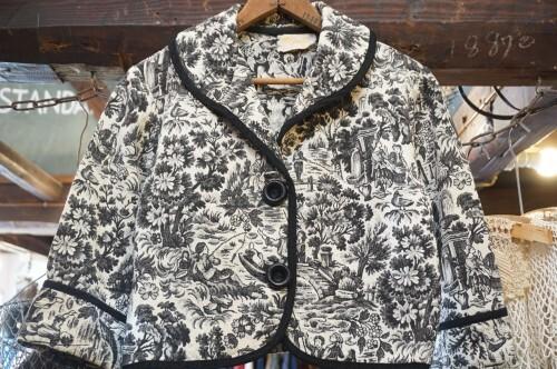 40's victorian garden tapestry bolero Jacket