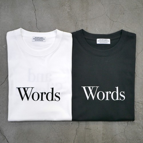 【NEW STYLE】SILENT POETS / T-SHIRTS(WORDS AND SILENCE)