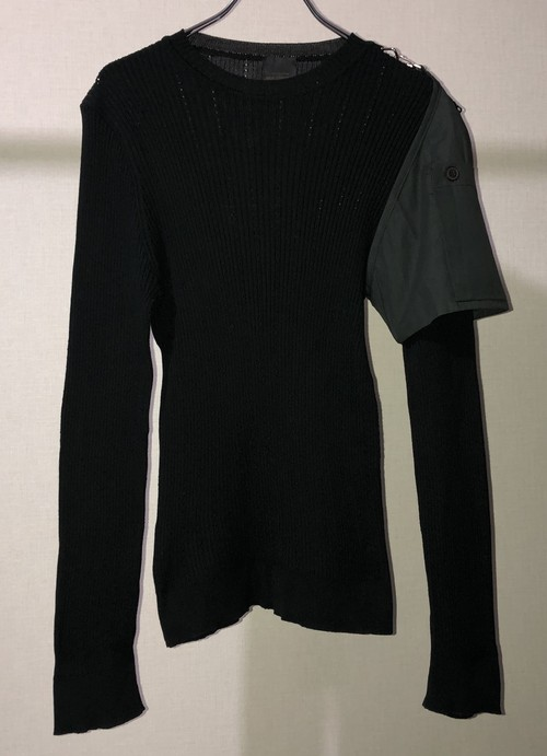 1990s ELIOT VAN RIBBED KNIT W/ DETACHABLE POCKET