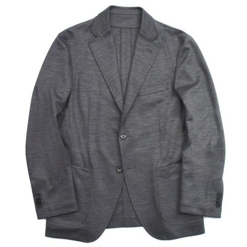 【READY MADE】ビジカジスタイル ジャージージャケット グレー無地 シングル2釦