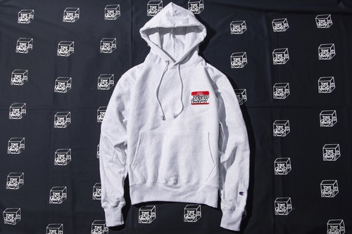 HELLO CHAMPION HOODY (GRAY)