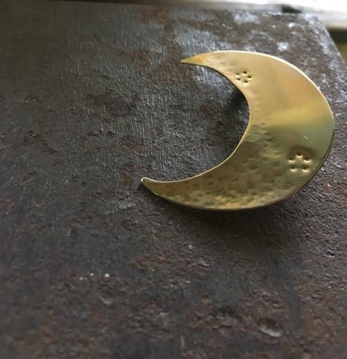 真鍮ブローチ 月