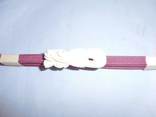 鯨骨龍帯留(三分紐付) whale bone obi sash clip(dragon)