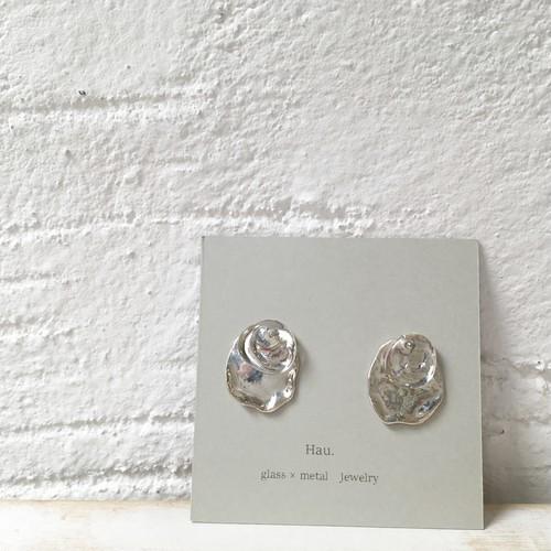 【Hau.】glass×silver earring(silver925)