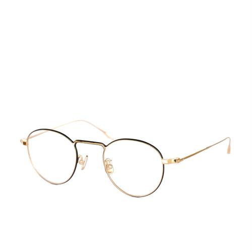 YUICHI TOYAMA.:ユウイチ トヤマ.《U-066 Marcel マルセル Col.01 Gold Black》 眼鏡 ボストン
