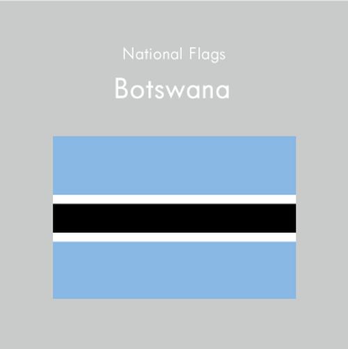 国旗ステッカー ボツワナ