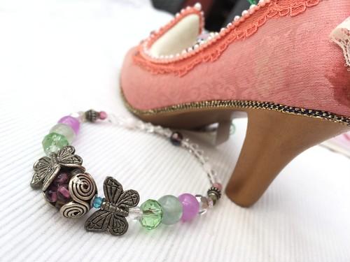蝶と蕾みのブレスレット/願望成就