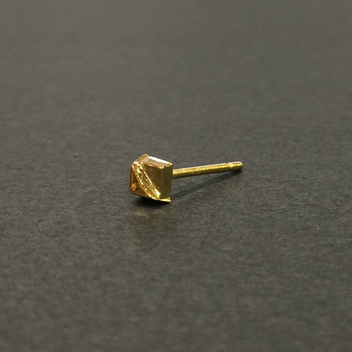 Baby-Baby stud earring - Square-Slash /シングルピアス