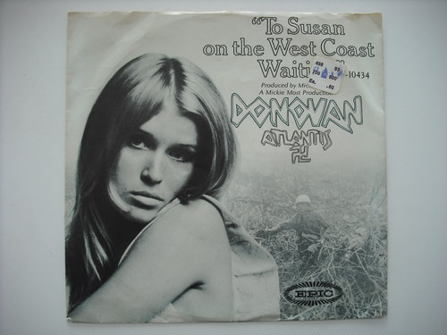 "【7""】DONOVAN / TO SUSAN ON THE WEST COAST WAITING"