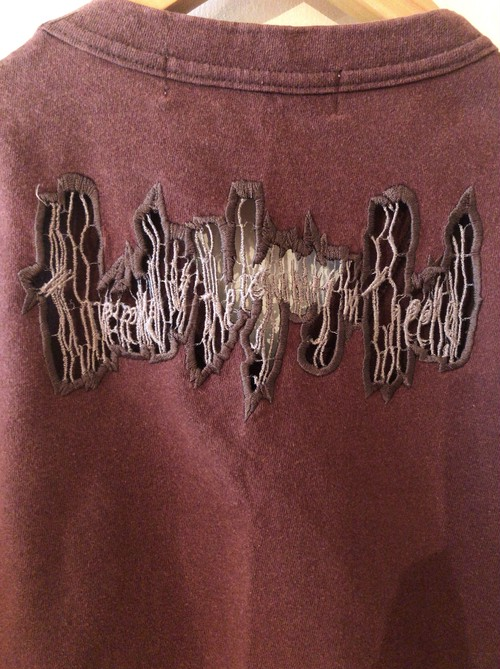 late90's beauty:beast goth embroidery tanktop