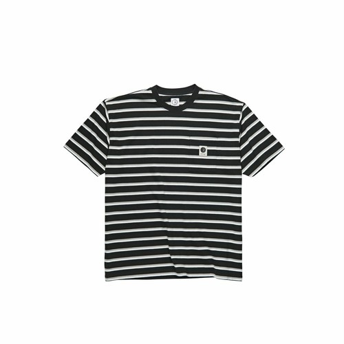 POLAR SKATE CO / STRIPE POCKET TEE -BLACK-