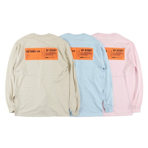 One Family Co. / Long Sleeve T-Shirt / Name Tag