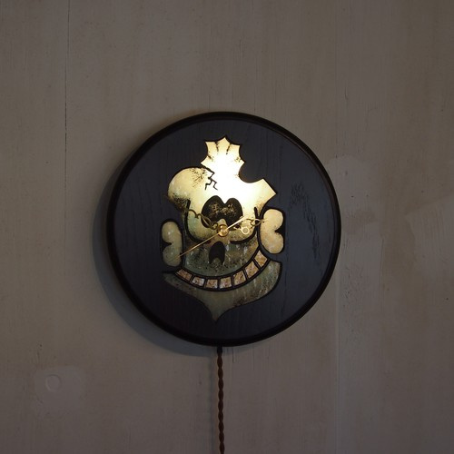 壁掛け時計ランプ「MILWAUKEE SKULL CLOCK LAMP」1