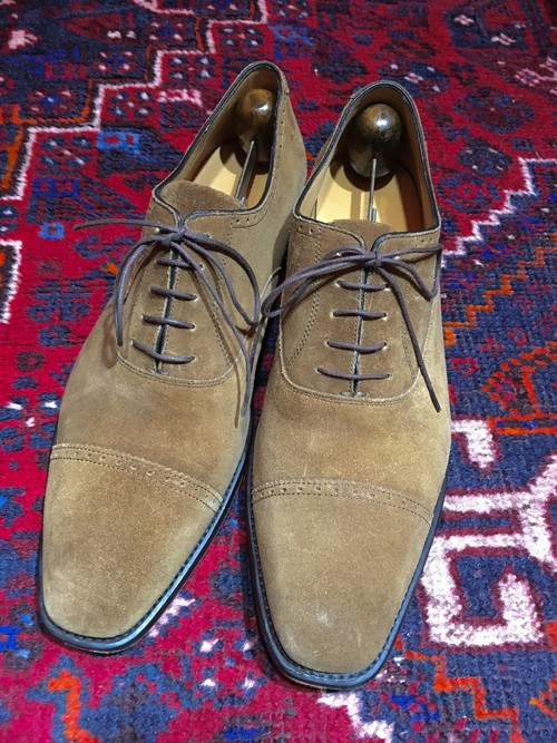 .HESCHUNG SUEDE LEATHER STRAIGHT TIP SHOES MADE IN FRANCE/エシュンスウェードレザーストレートチップシューズ 2000000031361