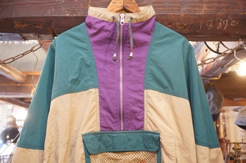 00's NIKE nylon tri-color pull-over Jacket