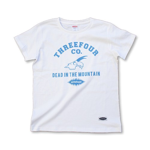 DEAD IN THE MOUNTAIN ガールズ Tee(White×S Blue)
