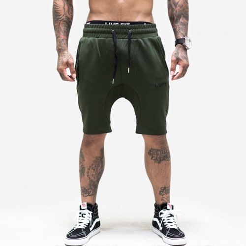 LIVE FIT Tech-Shorts- Militant Green