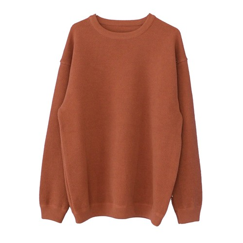 moss stitch L/S sweat(crepuscule)