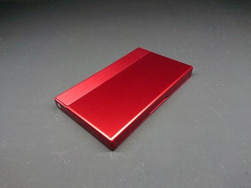アルミニウム製名刺カードケース ミラノレッド色