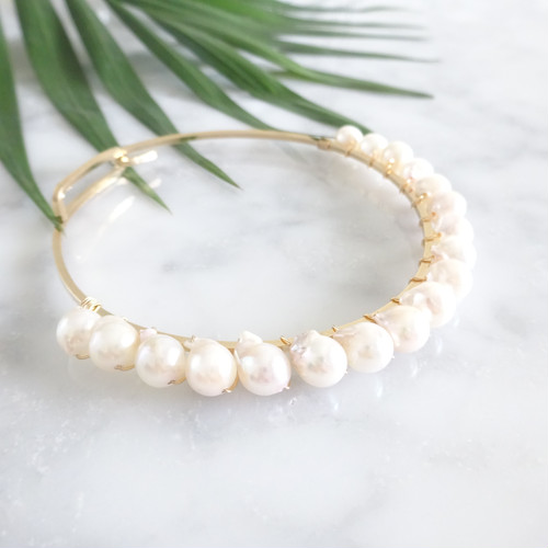 14kgf*Japanese Akoya sea pearl braceletパール