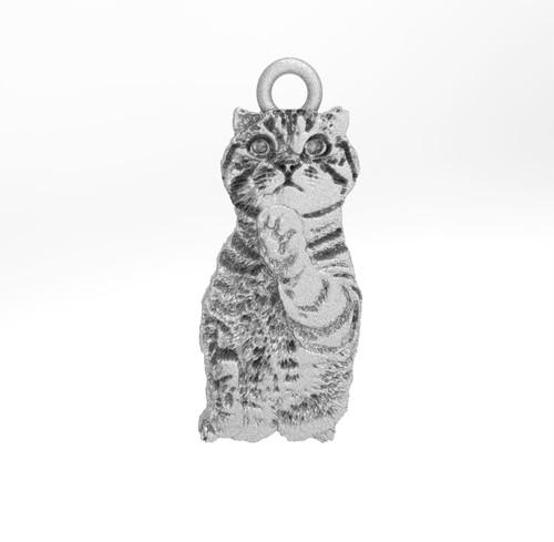 ティノ HOKUSHIN トップのみ 猫 シルバー925 ロジウム ニッケルフリー