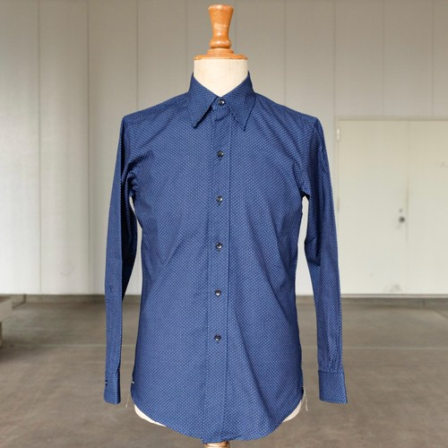 BONCOURA × STRAY SHEEP Limited  INDIGO DOT REGULAR COLLAR SHIRT