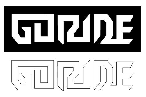 Goride logo sticker set