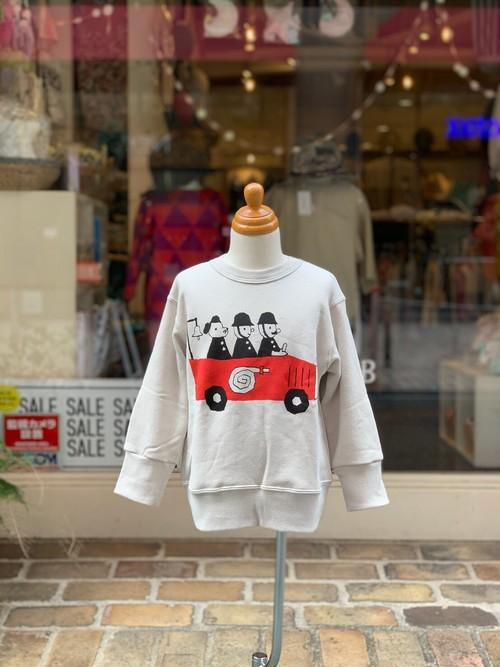 KIDS:nini【ニニ】消防車トレーナー(ベージュ/80〜130cm)