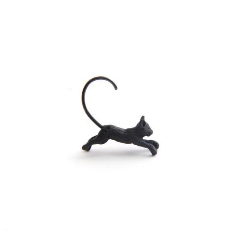 simmon/Cat Body Hook Pierce_Black(片耳)