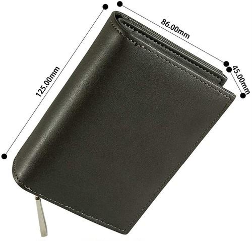 メンズ二つ折り財布 長財布 財布 大容量 カード収納 本革 コンパクト ビジネス 磁気 プレゼント