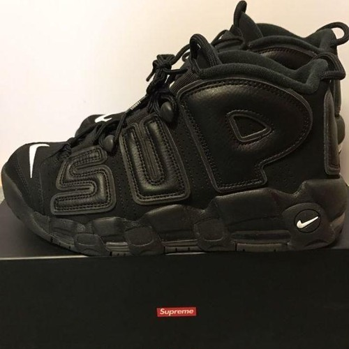 supreme × NIKE AIRMORE UPTEMPO シュプテン 黒